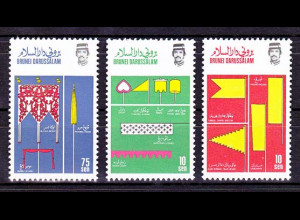 Brunei 1986, Michel Nr. 343-45, Königlixhe Insignien