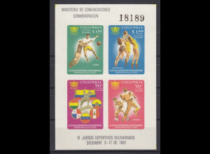 Kolumbien 1961, Block 25, Bolivar-Sportspiele