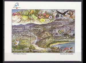 Kolumbien 1989, Block 41, Natur und Bodenschätze