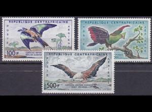Zentralafrikanische Republik 1960, Nr. 12-14, Freimarkenserie - Luftpost Vögel