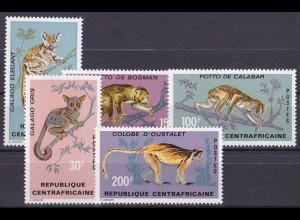 Zentralafrikanische Republik 1971 Michel Nr. 242-46 tolle Briefmarken Primaten