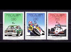 China Macau Macao 1988 Michel Nr. 608-10 Grand Prix von Macao Tourenwagen