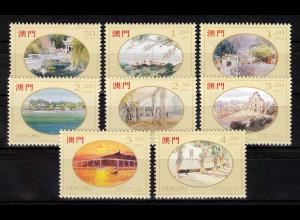 China Macau Macao 1995 Michel Nr. 786-93, Ansichten von Macao.