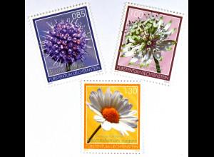 Liechtenstein 2015 Michel Nr. 1755-57 Magerwiesenblumen