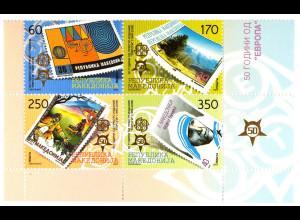 Makedonien 14. November 2005 Michel Nr. 370-73 50 Jahre Europamarken 2006