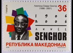 Makedonien 2006 Michel Nr. 381 100. Geburtstag von Léopold Sédar Senghor