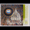 Makedonien 2006, Mi-Nr. 385, Jahrestag d. Weihe der Kuppel d. Petersdoms in Rom
