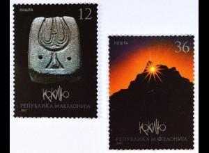 Makedonien Januar 2007 Michel Nr. 415-16 Megalithisches Observatorium Kokino