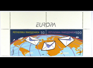Makedonien 2008 Michel Nr. 458-59 Europa Der Brief