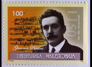 Makedonien 2008 Michel Nr. 484 150. Geburtstag von Giacomo Puccini