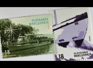 Transportmittel Schiffe Briefmarken aus Makedonien
