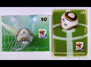 Fußball Weltmeisterschaft in Südafrika Briefmarken aus Makedonien 2010