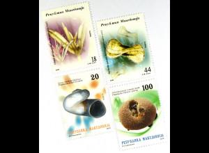 Makedonien 2010 Michel Nr. 561-64 Endemische Pflanzen und Tiere Ohridsee