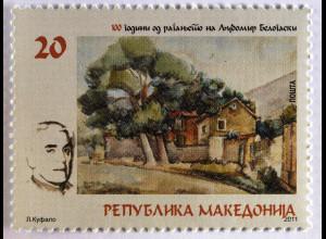 Makedonien Michel Nr. 603 100. Geburtstag von Ljubomir Belogaski