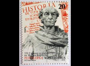 550. Geburtstag von Marin Barleti Marke aus Makedonien 2010