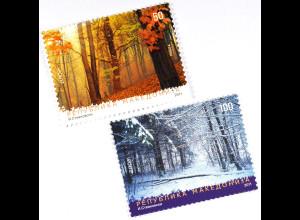 Makedonien 2011 Michel Nr. 593-94 Europa Der Wald