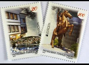 Makedonien 2012 Michel Nr. 627-28 Europa Besuche
