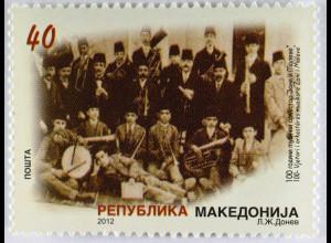 Makedonien 2012 Michel Nr. 632 100 Jahre Musikorchester Zani i Maleve
