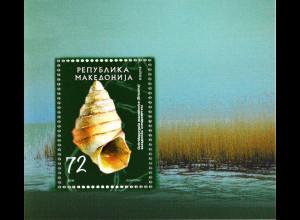 Makedonien 2006 Block 15 Süßwasserschnecken aus dem Ohridsee