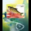 Makedonien Macedonia 2007, Block 16, Einheimische Süßwasserfische, Döbel