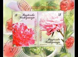 Makedonien 2010, Block 21, 100 Jahre Internationaler Tag der Frau, Nelken