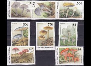 Antigua und Antigua Barbuda 1989, Michel Nr. 1258-65, Pilze