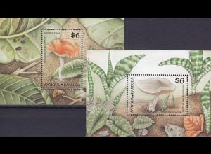 Antigua und Antigua Barbuda 1989, Block 162-63, Pilze