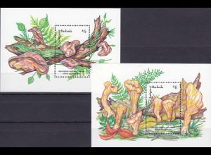 Antigua und Antigua Barbuda 1992, Block 234-35, Pilze Judasohr/Abgestutzte Keule