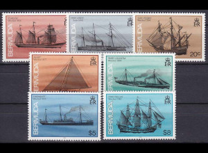 Bermuda 1992, Michel Nr. 471-87 x II, Freimarken: Schiffe / Schiffwraks