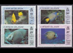 Kaiman-Inseln 1990, Michel Nr. 632-35, Fische: Kaiserfische