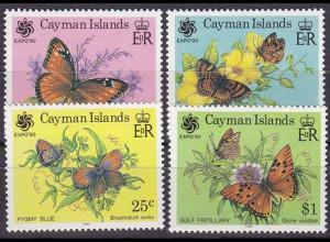 Kaiman-Inseln 1990, Michel Nr. 638-41, Expo Osaka Schmetterlinge