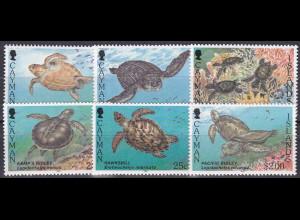 Kaiman-Inseln 1995, Michel Nr. 721-26, Meeresschildkröten