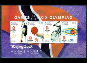 Tobago 2008, Block 81, Olympische Sommerspiele Peking, u. a. Tischtennis