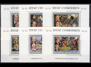 Komoren 1976, Block 12-17 A, 200 Jahre Unabhängigkeit der USA