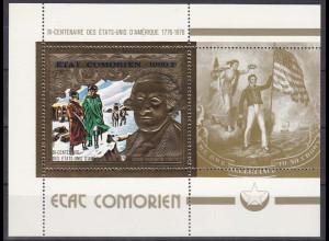Komoren 1976, Block 18 A, 200 Jahre Unabhängigkeit der USA