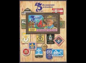 Tschad 1982, Michel Nr. Block 106 B, 75 Jahre Pfadfinderbewegung Prägedruck