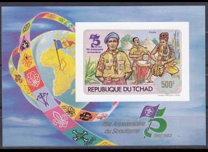 Tschad 1982, Michel Nr. Block 98 B, 75 Jahre Pfadfinderbewegung, Pfadfinder