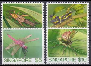 Singapur Singapore 1985, Michel Nr. 471-74, Insekten Japan-Printing-Bureau