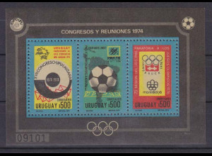 Uruguay 1974, Block 21, Ereignisse/Kongresse.