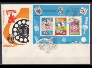 Uruguay 1976, Block 30 FDC, Jahresereignisse.