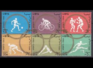Libyen Libya 1964, Michel Nr. 160-65 A, Olympischen Spiele Tokio