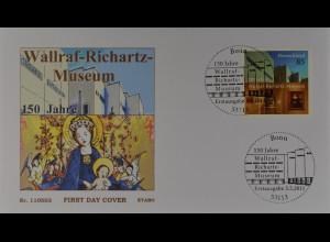 Bund BRD Ersttagsbrief FDC Michel Nr. 2866, 150 Jahre Wallraf-Richartz-Museum