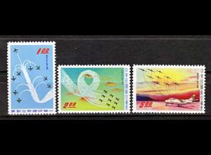 "Taiwan Formosa 1960 Michel Nr. 352-54, Kunstflugstaffel ""Thunder Tiger"""