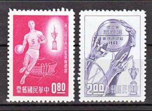 Taiwan Formosa 1963, Michel Nr. 500-501, Motiv: Basketball