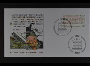 Bund BRD Ersttagsbrief FDC Michel Nr. 2868, 100 Jahre Reichsverordnung, 5.5.2011