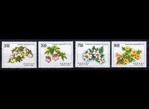 Taiwan Formosa 1991, Michel Nr. 1974-77, Pflanzen
