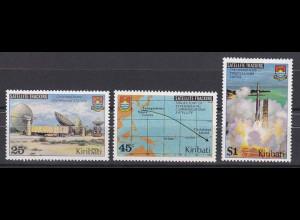 Kiribati 1980, Michel Nr. 346-48, Nachrichtensatellit