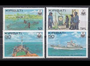 Kiribati 1981, Michel Nr. 378-81, Thunfischfang