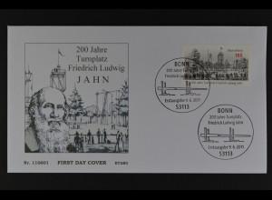 Bund BRD Ersttagsbrief FDC, Mi. Nr. 2870, 200 J. Turnplatz Friedrich Ludwig Jahn