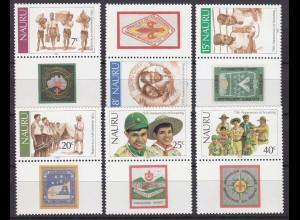 Nauru 1982, Michel Nr. 241-46, 75 Jahre Pfadfinderbewegung, Pfadfinder